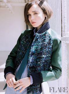 """Ellen Page Looks Jaw-Droppingly Gorgeous In This """"Flare"""" Cover Shoot"""