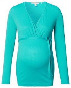 Дамска блуза с дълъг ръкав за бременни ESPRIT MATERNITY - зелен