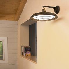 Industrielle LED Wandleuchte Plec aus Stahl und...