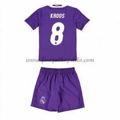 Real Madrid Lasten Jalkapallo Pelipaidat 2016-17 Kroos 8 Vieraspaita