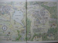 Beatrix Potter map and other maps from children's literature