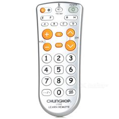 CHUNGHOP L108E Learning Function 11-key Remote Controller - Silver. Mini learning universal remote control, through learning function, can control almost all the infrared remote control of home appliance equipment. Can be used for car CD remote substitution, substitution, projector remote control remote control substitution digital camera remote control, etc., Mini size and portable, fine workmanship, high quality, good hand feel.. Tags: #Consumer #Electronics #Remote #Controllers
