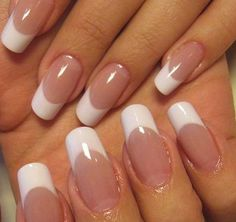 New fails design gel long french tips 60 ideas French Manicure Gel Nails, French Tip Acrylic Nails, Polygel Nails, Best Acrylic Nails, Cute Nails, Pretty Nails, White French Nails, Elegant Nails, Stylish Nails