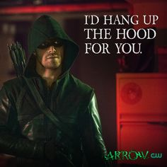 """Arrow's official social media pages celebrated Valentine's Day with a """"card"""" themed graphics, including this Oliver Queen/Arrow one."""