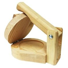 "Picture of Round Wood Tortilla Press to Make Sopes - Tortilladora Redonda de Madera 5"" Small Tortillas- Item No.29440-87152"