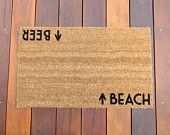 Beach / Beer Door Mat (doormat) - beach cottage decor