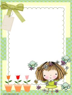 Borders For Paper, Borders And Frames, Diy And Crafts, Crafts For Kids, Paper Crafts, Pottery Painting Designs, Kids Background, Text Frame, Binder Covers
