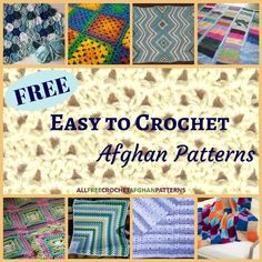When you're short on time, try one of these 24 free easy to crochet afghan patterns. These patterns are all unique and fun to make.
