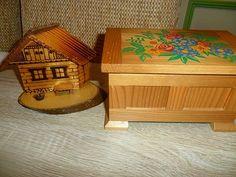 Prodám krásnou krabici dřevěnou 250,domeček 80,koukněte do