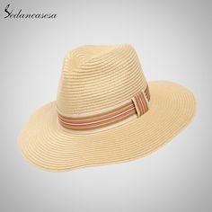 Fashion Men Summer Straw Sun Hat Wholesale High Quality Black Khaki Jazz Hats Like if you remember #shop #beauty #Woman's fashion #Products #Hat