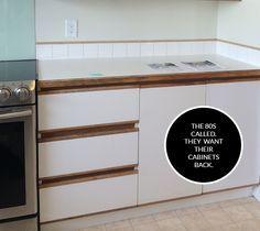 DIY 80s kitchen cabinet makeover