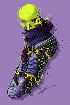 "Football Art - Nike Hypervenom Phantom 2 ""Electro Flare"""