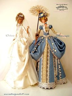 Period inspired cloth dolls!