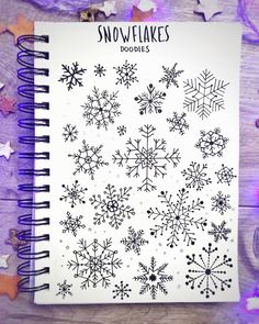 """Lana on Instagram: """"It was pretty complicated to draw these snowflakes 😓 I had to remember how to divide the circle in equal parts from school program😁🤓…"""" Bullet Journal Banner, Bullet Journal Quotes, December Bullet Journal, Bullet Journal Notebook, Bullet Journal Ideen, Bullet Journal Layout, Bullet Journal Inspiration, Journal Fonts, Journal Pages"""