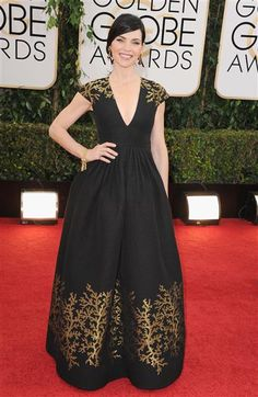 Julianna Margulies attends the 71st annual Golden Globe Awards held at The Beverly Hilton Hotel in Beverly Hills, Calif., on Jan. 12, 2014.