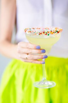 How to make a sprinkle margarita.