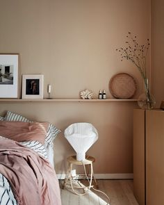 26 dusty pink bedroom walls you will love it 1 House Interior, Swedish Bedroom, Bedroom Interior, Interior, Dusty Pink Bedroom, Pink Bedroom Walls, Bedroom Wall Colors, Cozy House, Home Decor