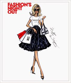 Hayden Williams Fashion Illustrations: FNO London 2014 by Hayden Williams
