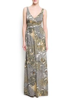 MANGO - CLOTHING - Dresses - Mixed-prints gown