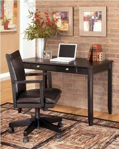 The Signature Design By Ashley Carlyle Small Leg Desk is a slender, contemporary design that brings a sophisticated touch to your home office. Contemporary Office Desk, Modern Home Office Furniture, Modern Office Desk, Home Office Desks, Furniture Decor, Furniture Sets, Contemporary Style, Home Kitchens, Home Furnishings