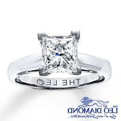 2 Carat Princess Cut Engagement Rings