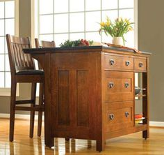 STICKLEY - KITCHEN ISLAND W/DRAWERS