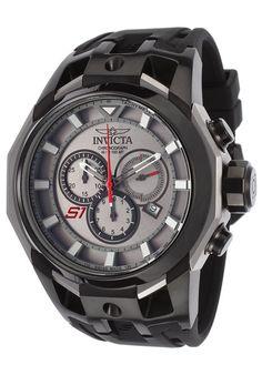 Invicta 16812 Watches,Men's S1 Rally Chrono Black Silicone Titanium-Tone Dial Black Bezel, Sport Invicta Quartz Watches