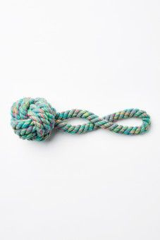 Teal Knot Rope Pet Toy