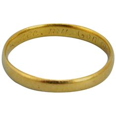18th Century Gold Posy Ring 1