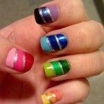 gradient rainbow nails nail-art-that-i-could-never-do-because-i-suck-at-d Funky Nails, Love Nails, How To Do Nails, Pretty Nails, Sexy Nails, Colorful Nails, Tumblr Nail Art, Nagel Hacks, Rainbow Nails