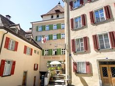 Buildings that surround the Episcopal Courtyard in Chur, the oldest town in Switzerland, demonstrate typical Swiss architectural design. Chur Switzerland, Us Travel Destinations, Daily Photo, Old Town, Paths, Architecture Design, Buildings, Old Things, Adventure