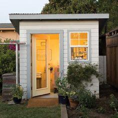 I ❤this idea!!!  Backyard home office in a shed