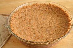 Homemade Graham Cracker Crust Recipe:    1 ½ c. graham crackers – 1 package of 9-10 crackers  1/3 c. sugar  6 Tbs. butter, melted  ½ tsp. cinnamon
