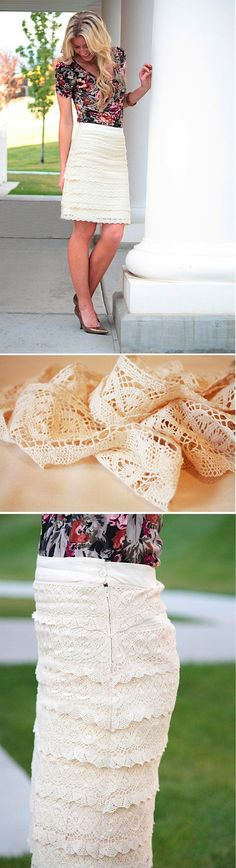 Cheap and Cute DIY Skirt Projects by DIY Ready at http://diyready.com/diy-clothes-pants-skirts-for-women/