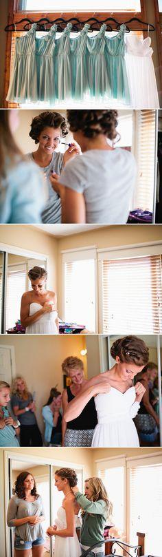 bridesmaids dresses! love love love :: different color