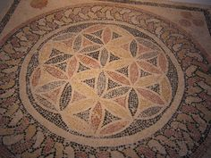 Centuries old Joseph's Coat mosaic from the Israel Museum in Jerusalem.  Photo by lovelaughquilter [Beth], via Flickr