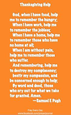 Thanksgiving prayer :) I love this!