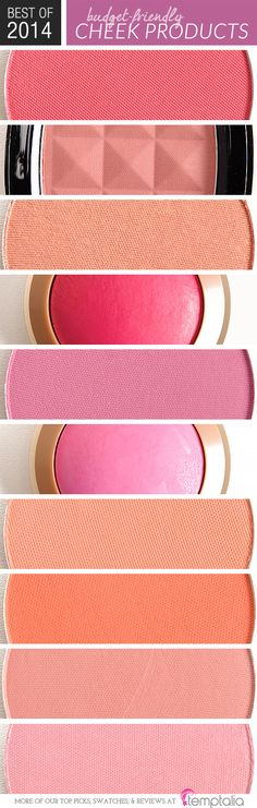 Best of 2014 Budget Friendly Cheek Products by Temptalia.