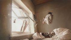 Jeremy Geddes paints in this awesome hyperreal surrealistic style