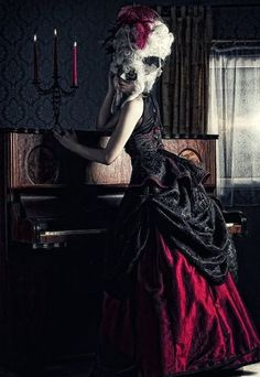 Marie Antoinette - Photographer Unknown - Fashion - Photography - Gothic - Victorian - Hair - Vampire Concept