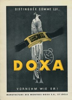 Doxa Watch Company Vintage 1939 Swiss Ad Le Locle Switzerland Suisse Horlogerie | eBay