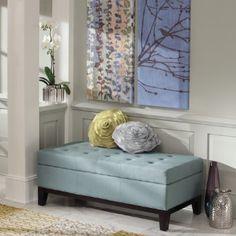 Linley Fabric Storage Ottoman, $349