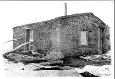 Sod House | ... on a homestead near meadow south dakota sod house with snow on the