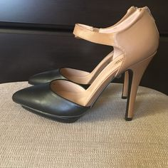 •Black & Tan Heels• Sz 9, Brand new in box. Very cute! I ordered them and they are too small for me. Zippers on the back. Charlotte Russe Shoes Heels