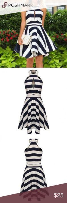 Spotted while shopping on Poshmark: NWOT•Sexy High Neck pleated swing dress! #poshmark #fashion #shopping #style #Dresses & Skirts