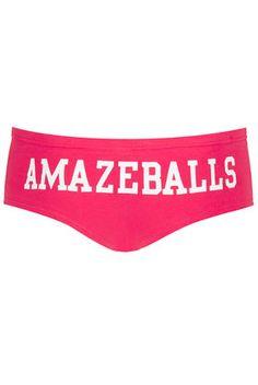 Amazeballs Slogan Boypants - Girl Boxers & Shorties