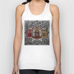 Aztec Dalek Tardis doctor who pencils sketch Tank Top @society6  #unisex #tanktop #tshirt #clothing #aztec #dalek #drwho #tardis #bluephonebox #davidtennant #medallion #symbol