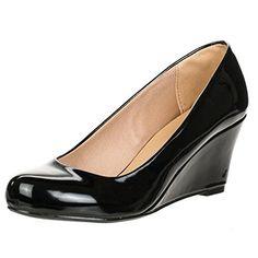 Forever Link Women's DORIS-22 Patent Round Toe Wedge Pumps,5 B(M) US,Black Forever http://www.amazon.com/dp/B00KFOEFZW/ref=cm_sw_r_pi_dp_R4SBwb1XPPF98