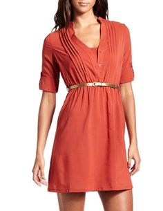 Belted Chiffon Shirt Dress - Throw on a blazer and it's 9-5 chic!