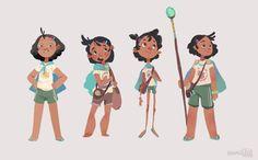"Abigail L. Dela Cruz - hyamei  Amihan / ""Ami"" - character exploration (2015 portfolio)"
